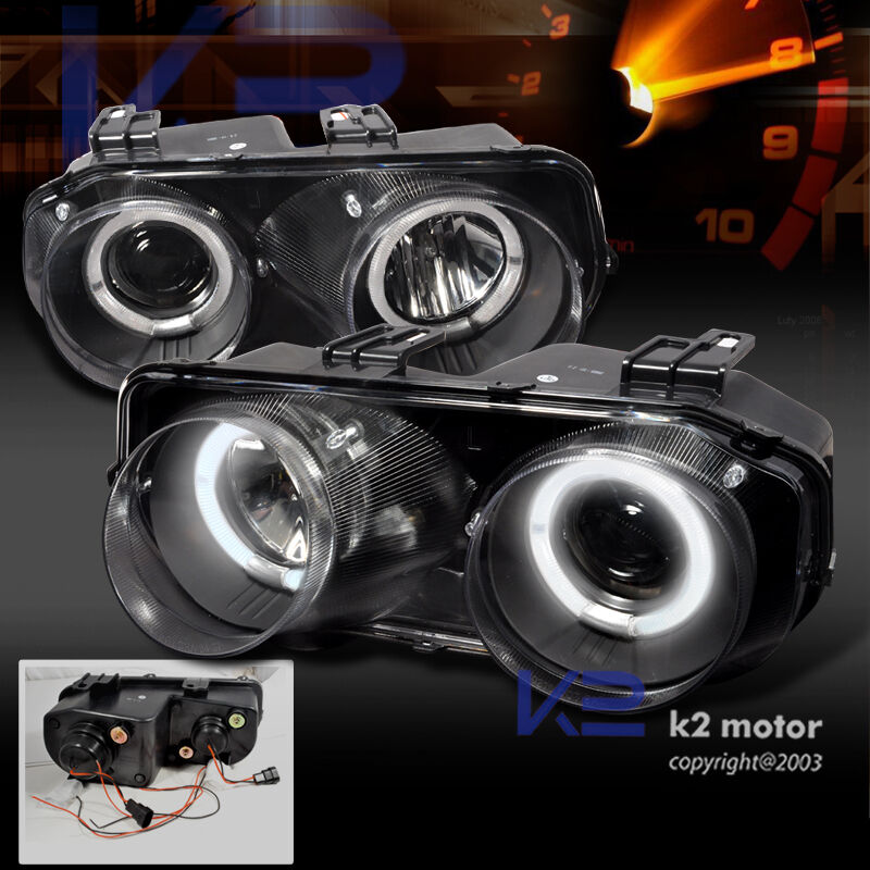 Acura Integra Headlights: 1994-1997 Acura Integra JDM Black Halo Projector