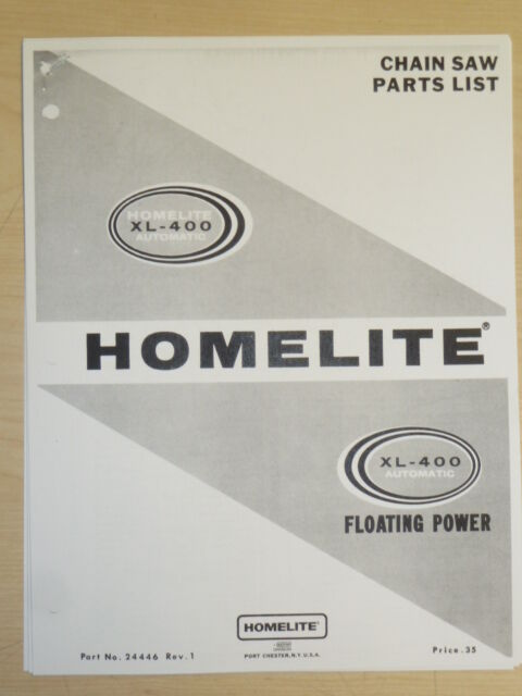 Homelite Xl 2 Chainsaw Manual