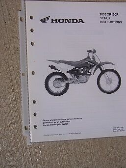 2006 honda odyssey wiring diagram 2003 honda motorcycle scooter xr100r set up instruction ... honda xr50r wiring diagram