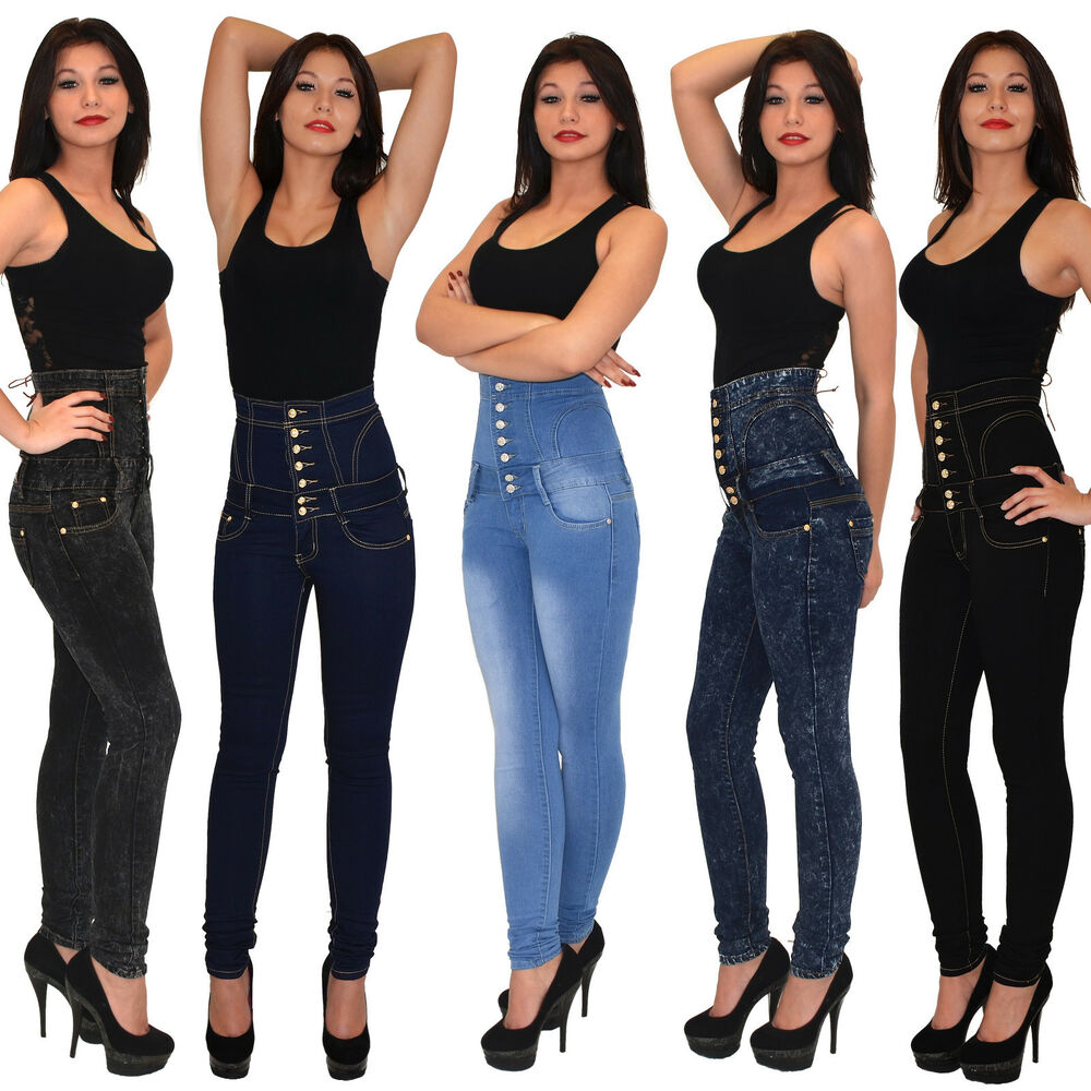 damenjeans r hrenjeans jeans hose r hre high waist. Black Bedroom Furniture Sets. Home Design Ideas