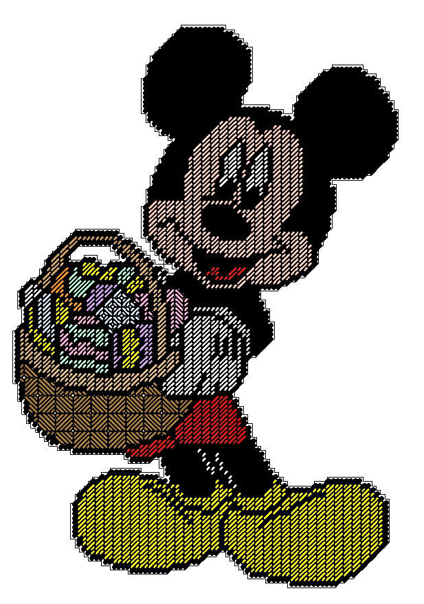 Easter Mickey Mouse Plastic Canvas Pattern Ebay