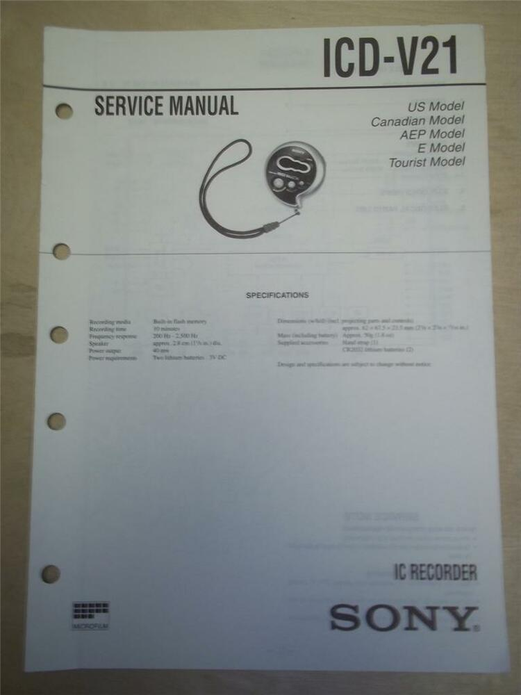 sony ic recorder icd px333 manual