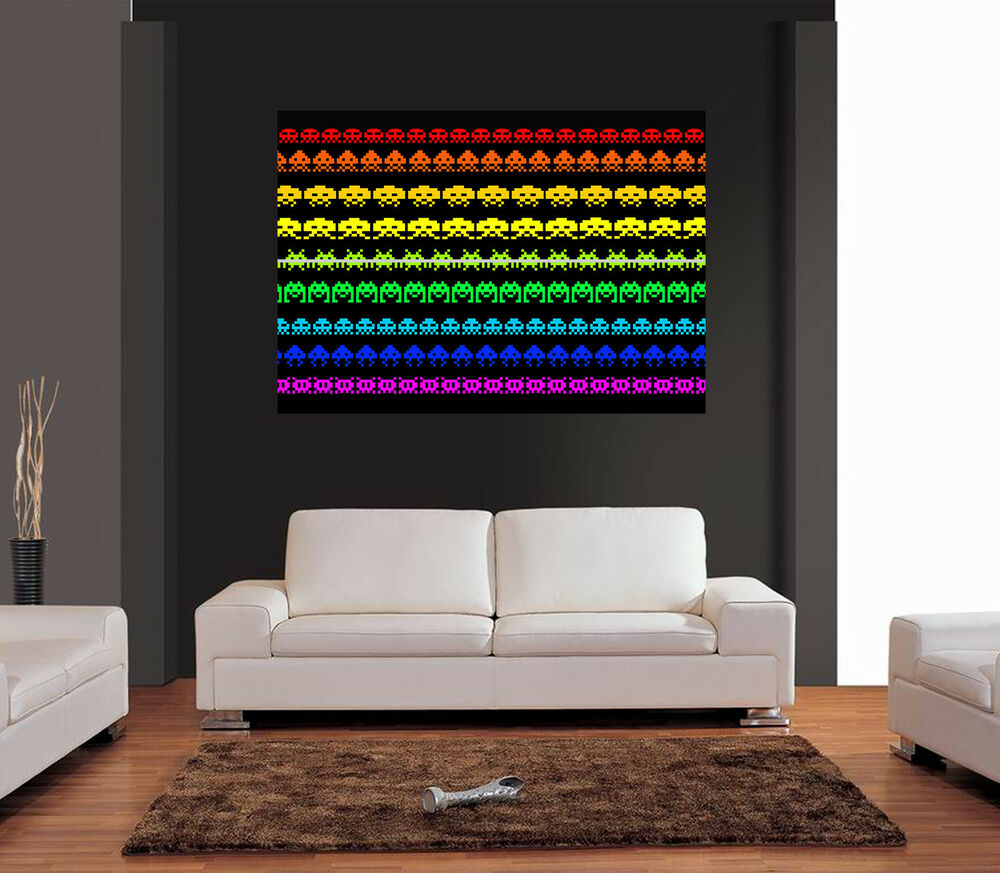 SPACE INVADERS Giant Wall Art Print Picture Poster