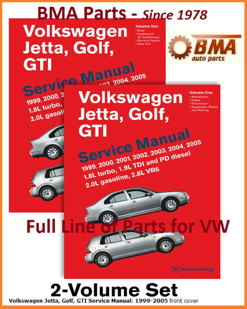 NEW VOLKSWAGEN VW JETTA GOLF GTI 1999-2005 BENTLEY SERVICE REPAIR MANUAL  VG05 9780837616780 | eBay