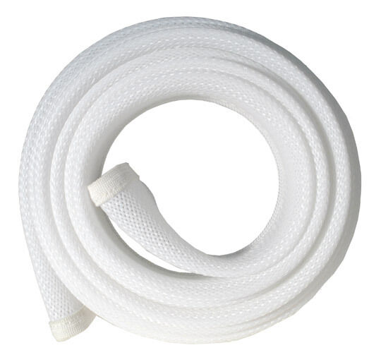 fisual zip up cable tidy wrap white 1m ebay. Black Bedroom Furniture Sets. Home Design Ideas