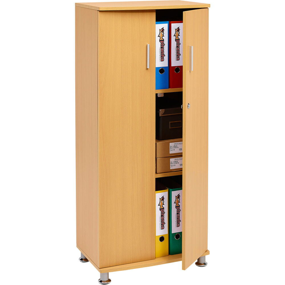 3 Shelf Cupboard Storage With Lock Furniture For Home Office Piranha Bonito Pc6b Ebay