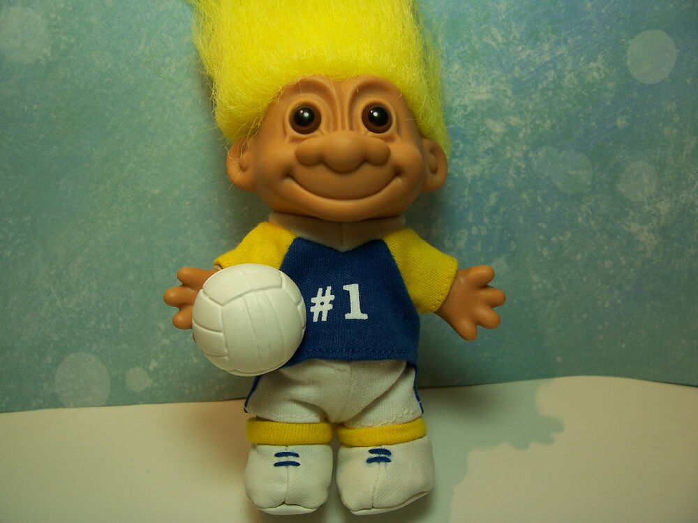 Volleyball player 5 quot russ troll doll new in original wrapper ebay