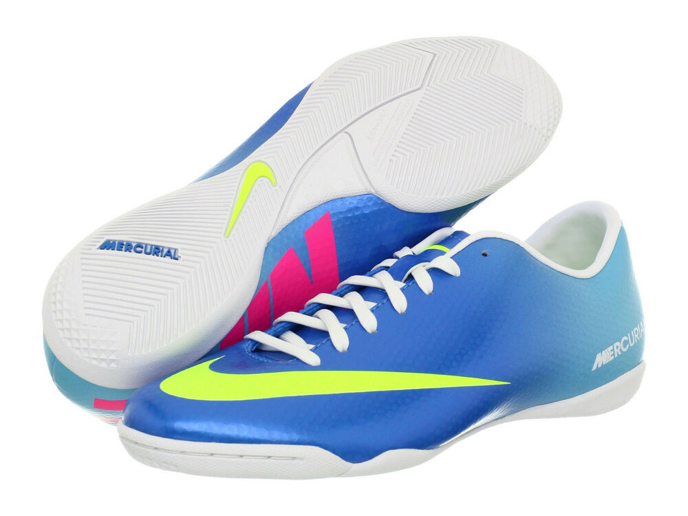 Pink And White Indoor Soccer Shoes