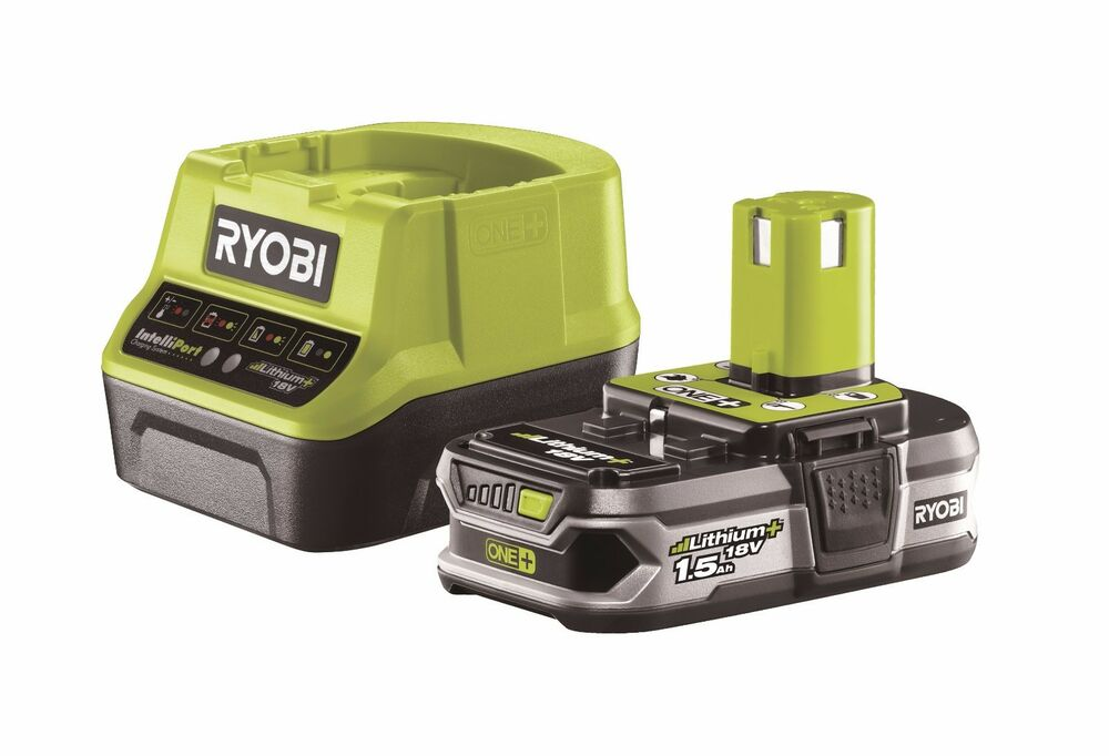ryobi one li ionen starter set rbc18l15 akku 18v 1 5ah ladeger t bcl14181h ebay. Black Bedroom Furniture Sets. Home Design Ideas