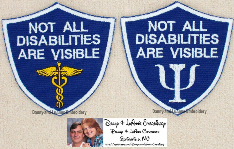 Not All Disabilities Are Visible Service Dog Patch
