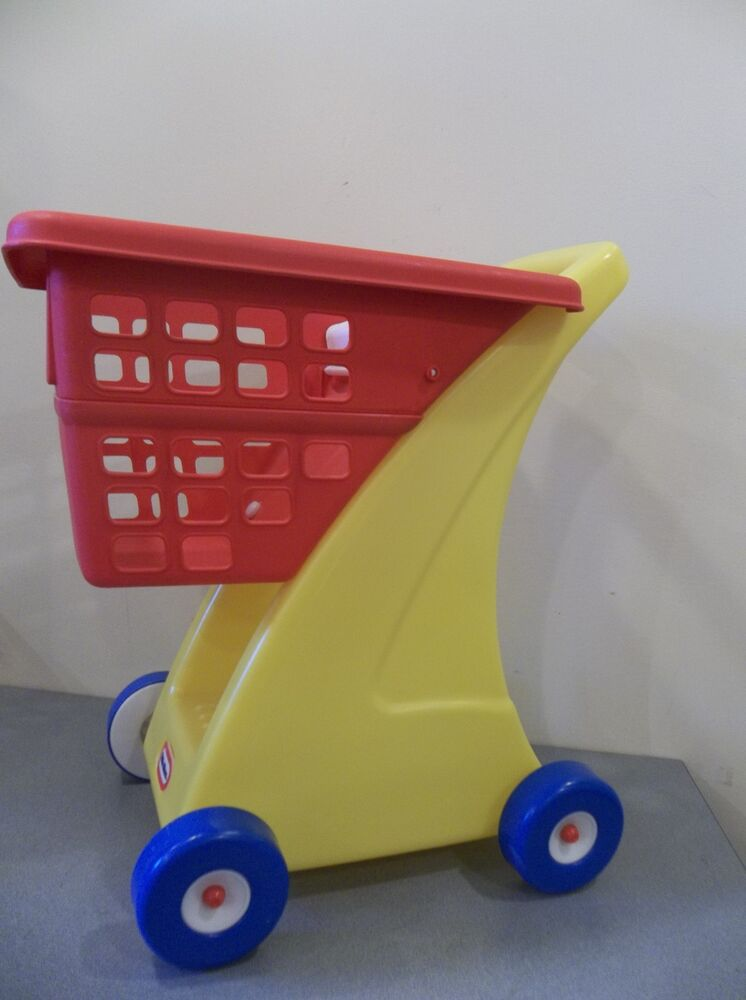 Toys For Little : Little tikes yellow toy grocery shopping cart doll