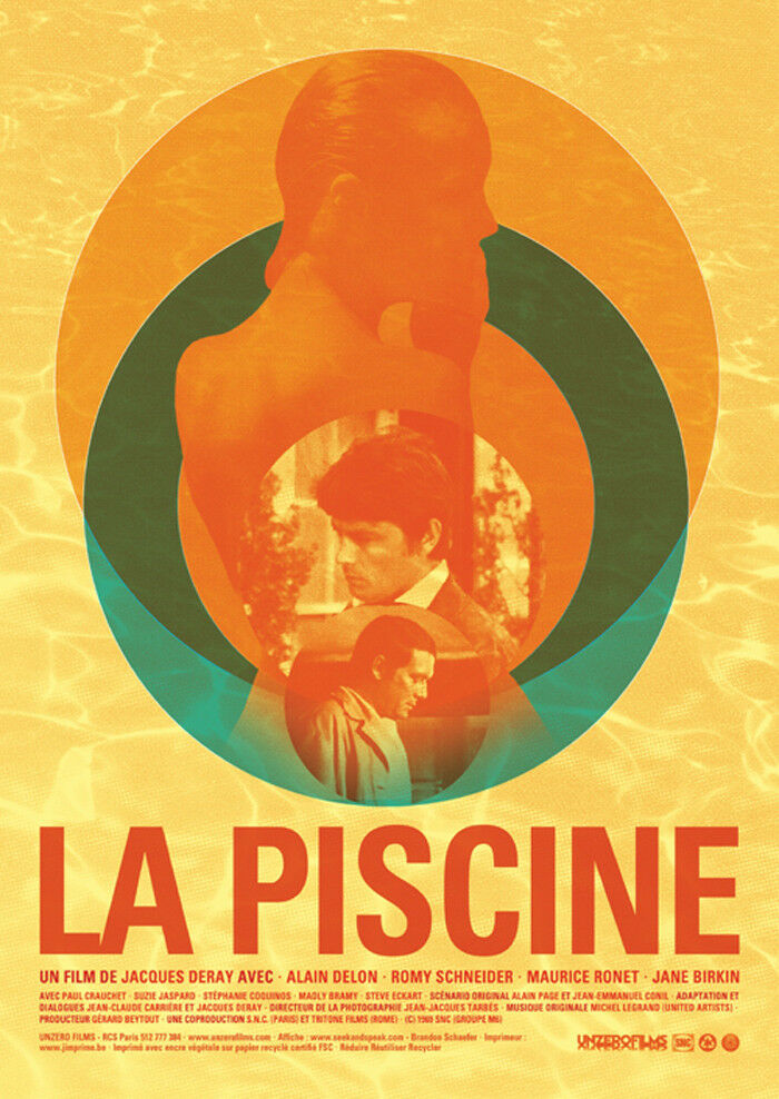 La piscine the swimming pool alain delon romy schneider for Alain delon la piscine