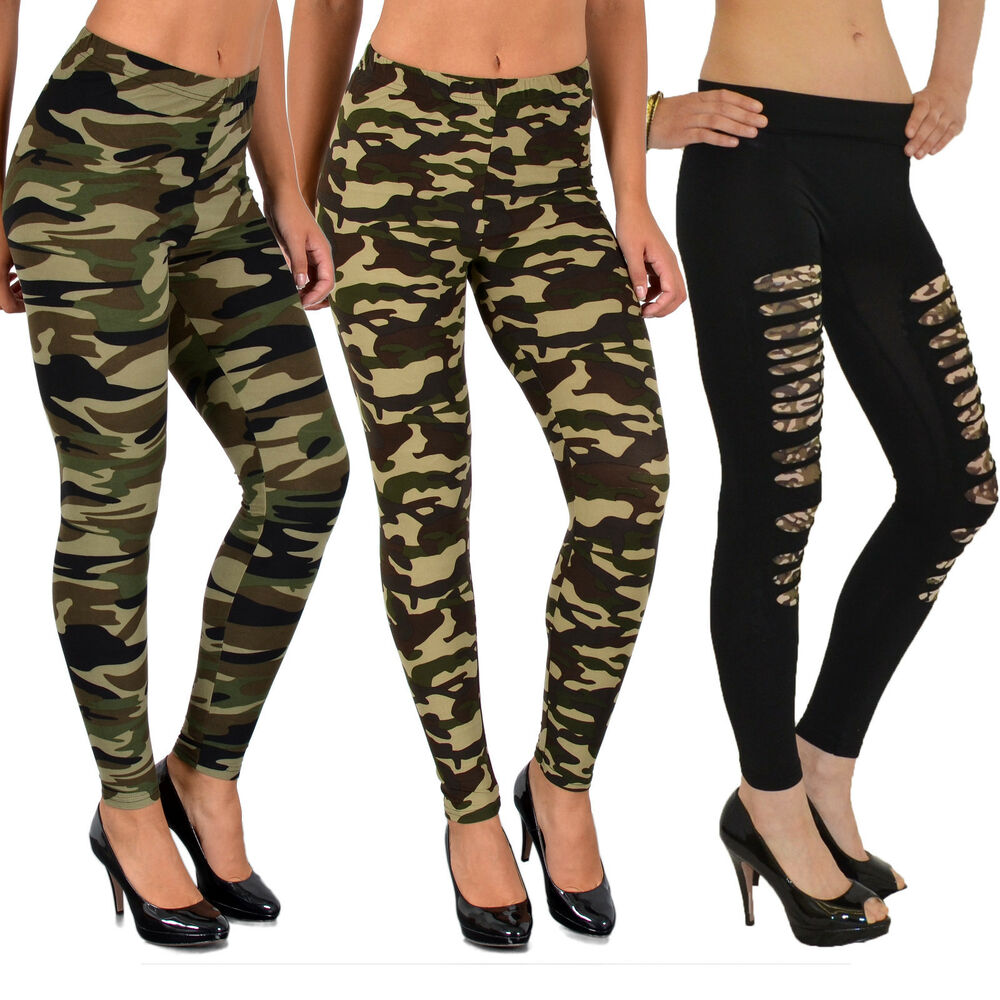 damen leggings leggins legging hose army look leging. Black Bedroom Furniture Sets. Home Design Ideas