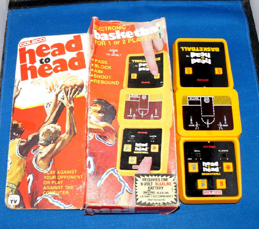 80s Electronic Toys : S coleco basketball head to arcade electronic