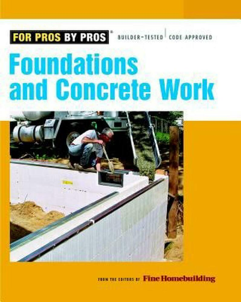 Foundations And Concrete Work By Paperback Book English