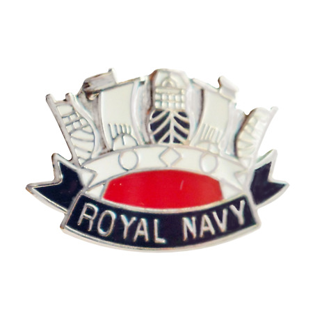 img-Royal Navy RN Crown Pin Badge - MOD Approved