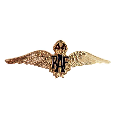img-RAF Royal Air Force Sweetheart Wings Gilt Pin Badge - MOD Approved