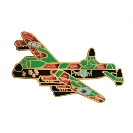 img-Avro Lancaster RAF Royal Air Force Small Pin Badge - MOD Approved