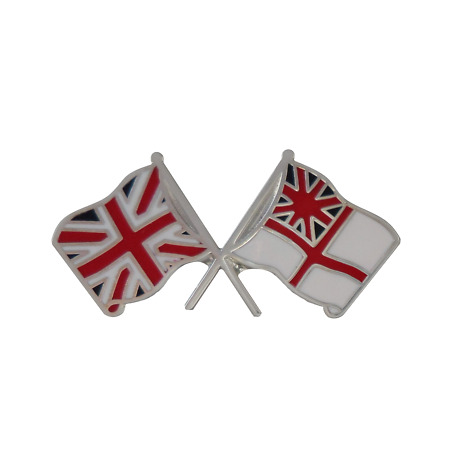 img-Royal Navy RN White Ensign & Union Jack Friendship Pin Badge MOD Approved - M48