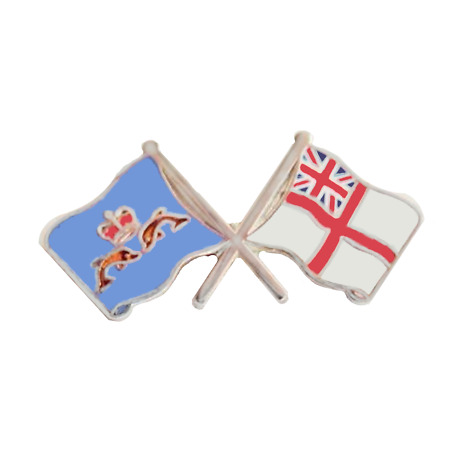 img-Royal Navy RN White Ensign & Submarine Service Pin Badge - MOD Approved