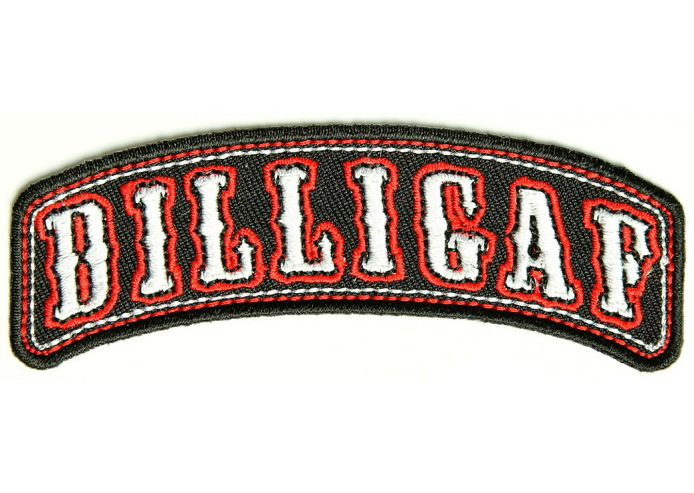 dilligaf rocker mc club embroidered motorcycle outlaw