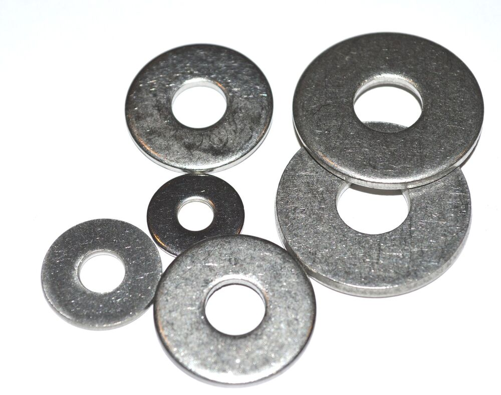 METRIC A2 FLAT FENDER WASHERS STAINLESS SET M3-M10 60 PCS ...