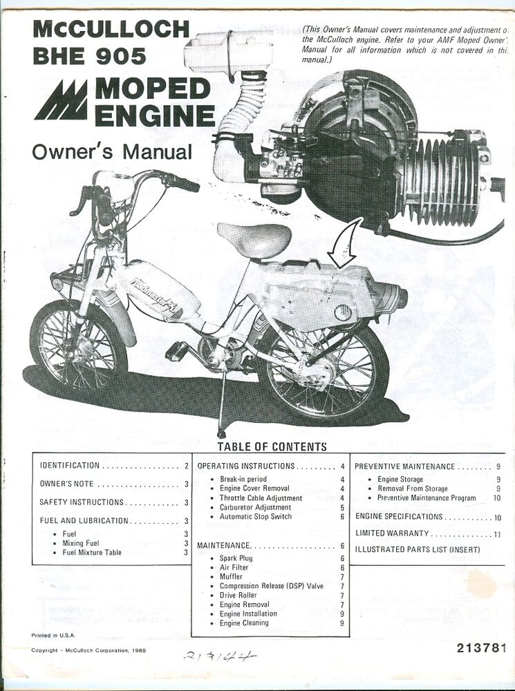 mcculloch engine manual