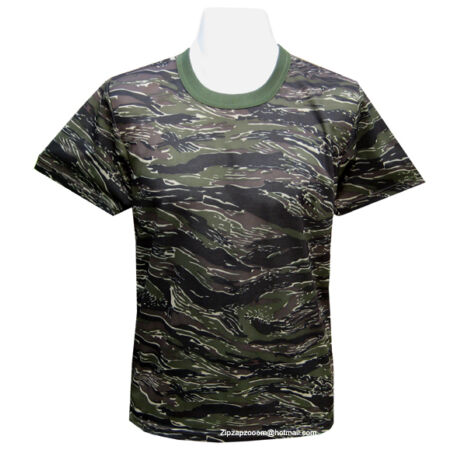 img-Mens Army Military Combat T-shirt Desert Woodland Urban US Tiger Stripe Camo