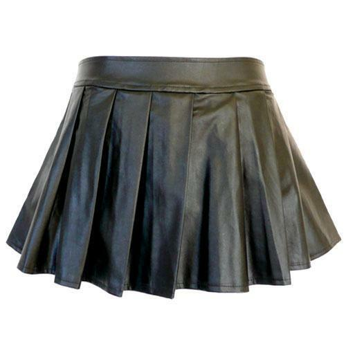 5209-13 - 1X 2X 3X 4X Plus Size Faux Leather Pleated Sexy Mini ...