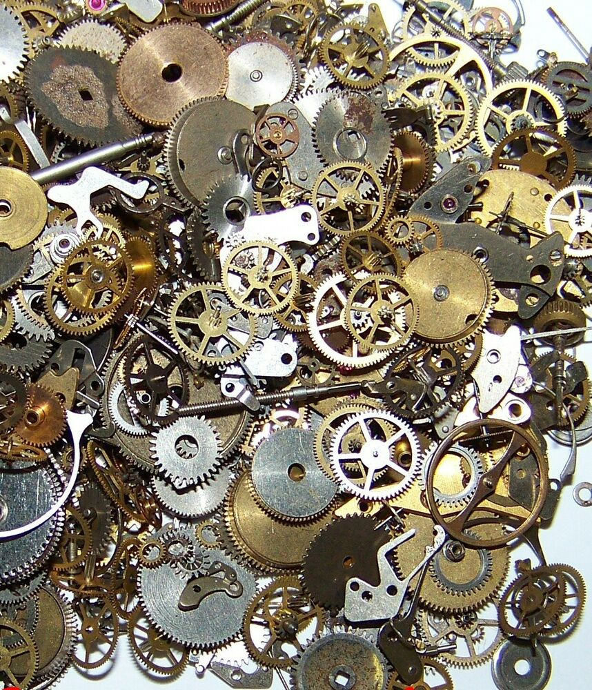 Antique Wheels And Gears : G pieces lot vintage steampunk wrist watch old parts