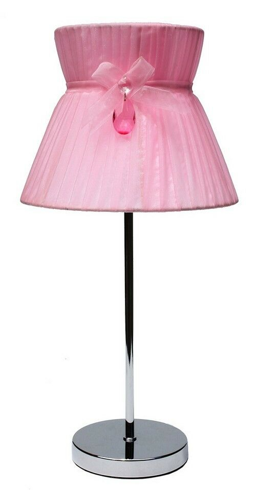 gorgeous shabby girls pink table lamp chapeau pink. Black Bedroom Furniture Sets. Home Design Ideas