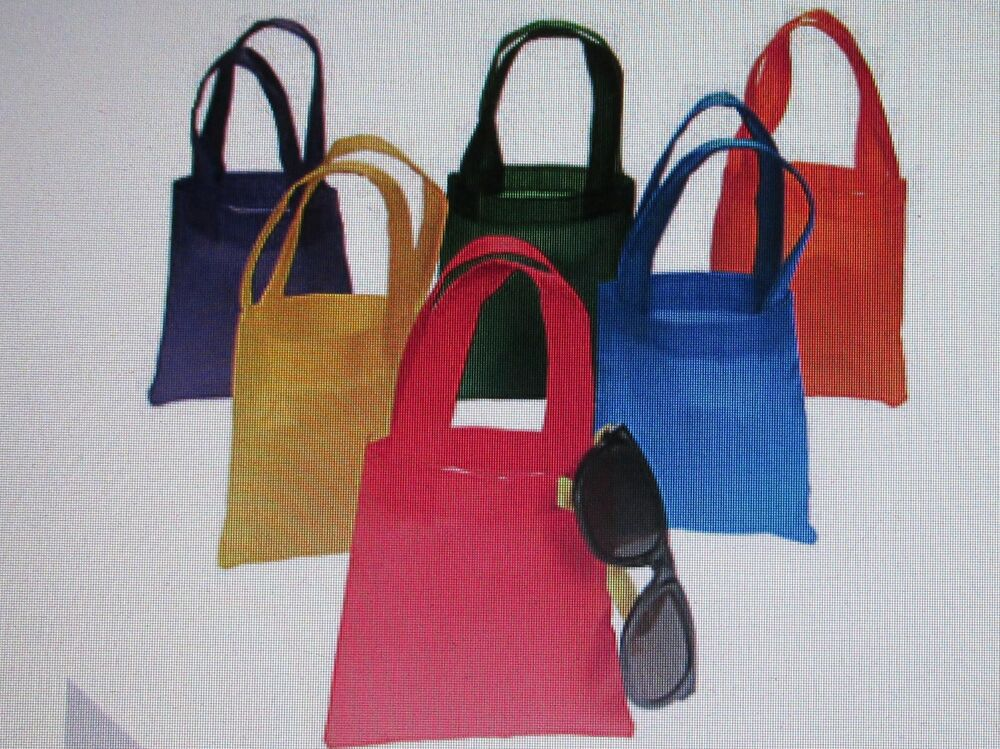 12 Colored Fabric TOTE BAGS party supplies FREE SHIP party ...