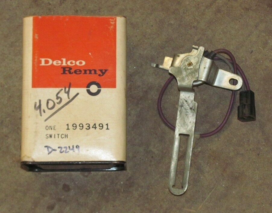nos 1969 69 chevy neutral safety switch 4 speed 427 ss copo 1993491 ebay. Black Bedroom Furniture Sets. Home Design Ideas