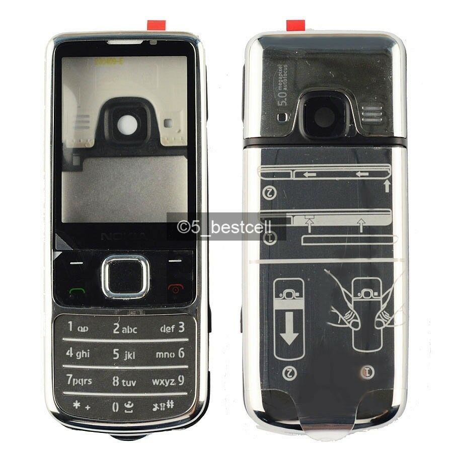 New Silver Metal Housing Cover Case For Nokia 6700 Classic ...