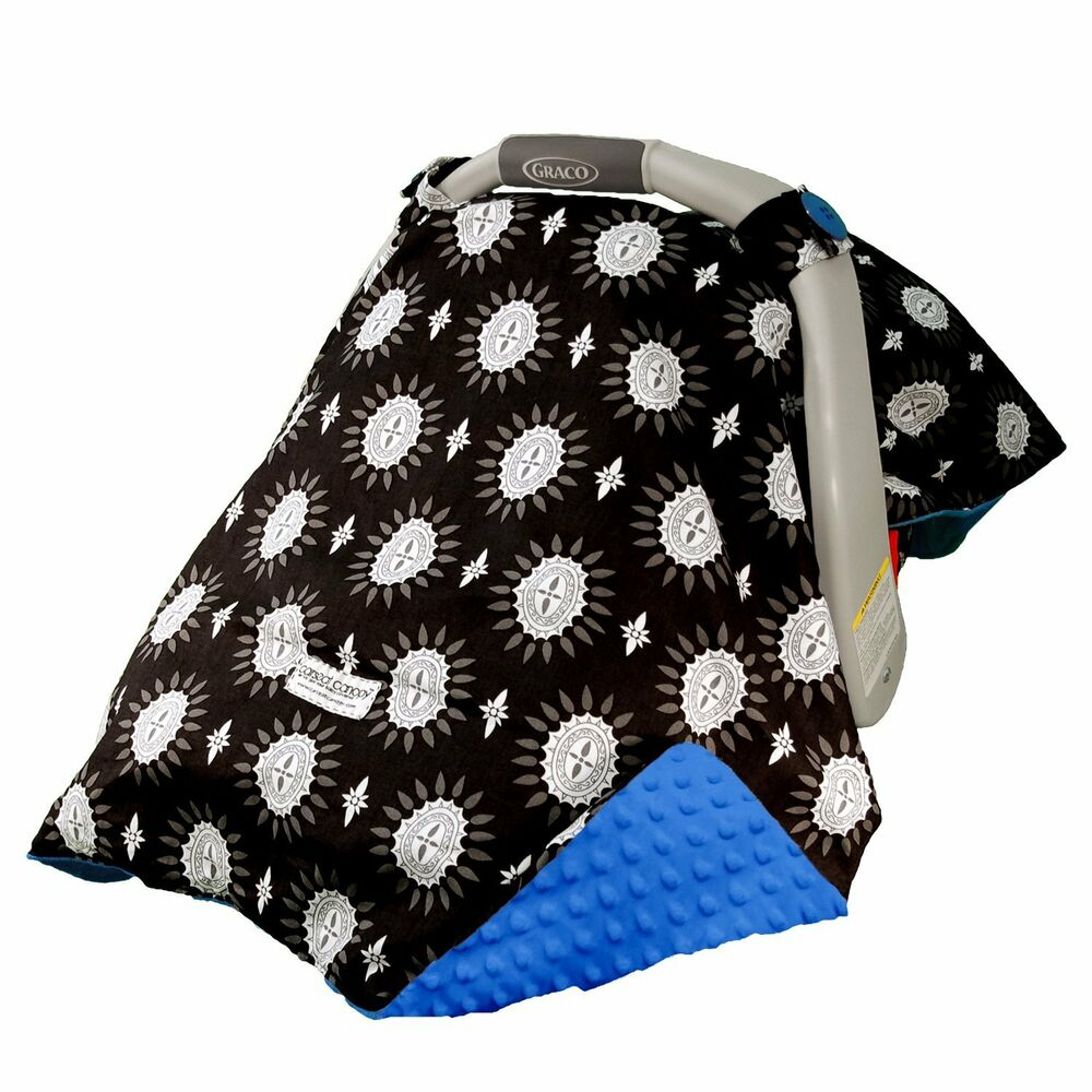 carseat canopy baby car seat canopy cover blanket cotton brand new maddox ebay. Black Bedroom Furniture Sets. Home Design Ideas