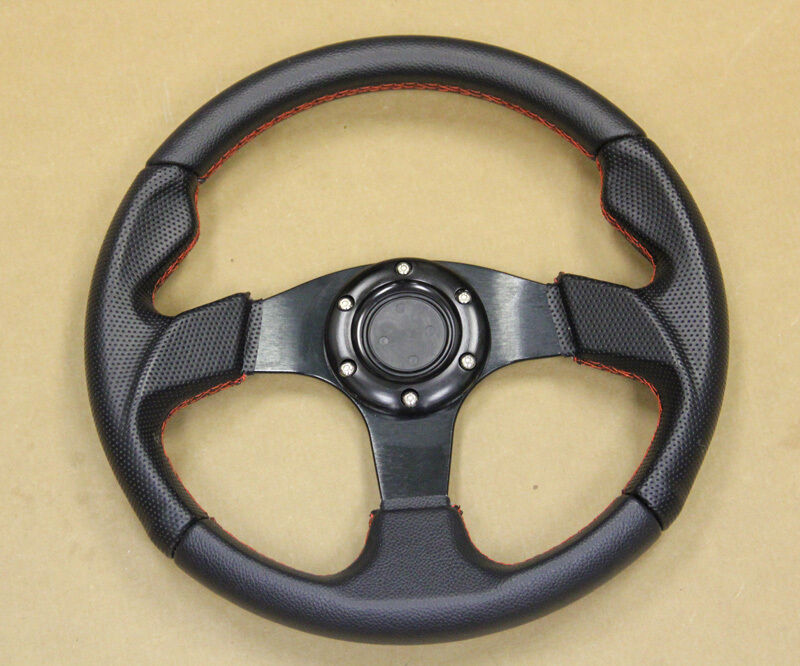 Jdm 320mm Bk Rd Stitche Steering Wheel 6 Bolt Bmw E30 E34