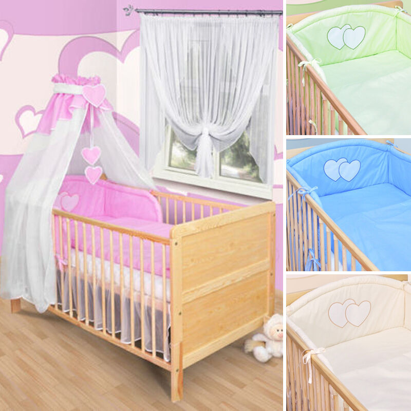 baby bettw sche himmel nestchen bettset mit applikation100x135cm neu herzchen ebay. Black Bedroom Furniture Sets. Home Design Ideas