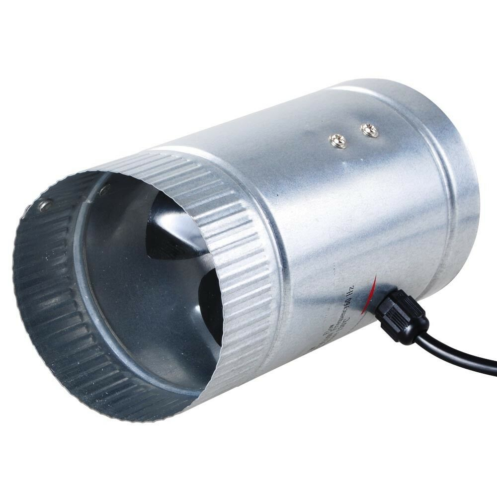 4 Inch Inline Fan : Quot inch duct booster inline blower fan cooling exhaust