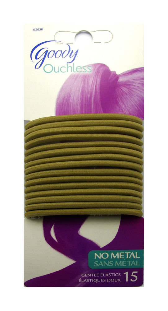 Goody 15 Blonde Ouchless Gentle Elastics No Metal Hair