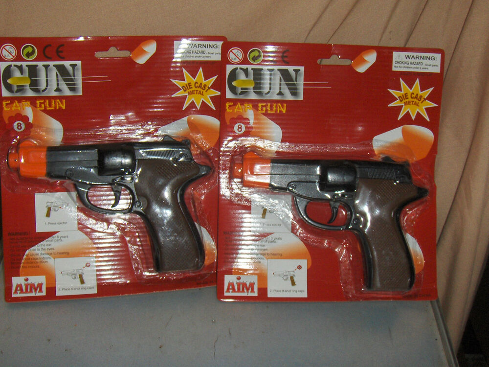 Toys By Brand : Brand new in the package toy diecast metal cap guns ebay