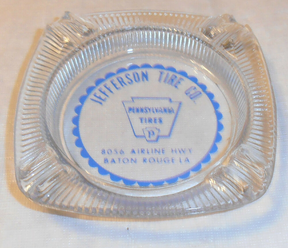 Vintage Jefferson Tire Co Ashtray Baton Rouge La Airline Hwy Ebay