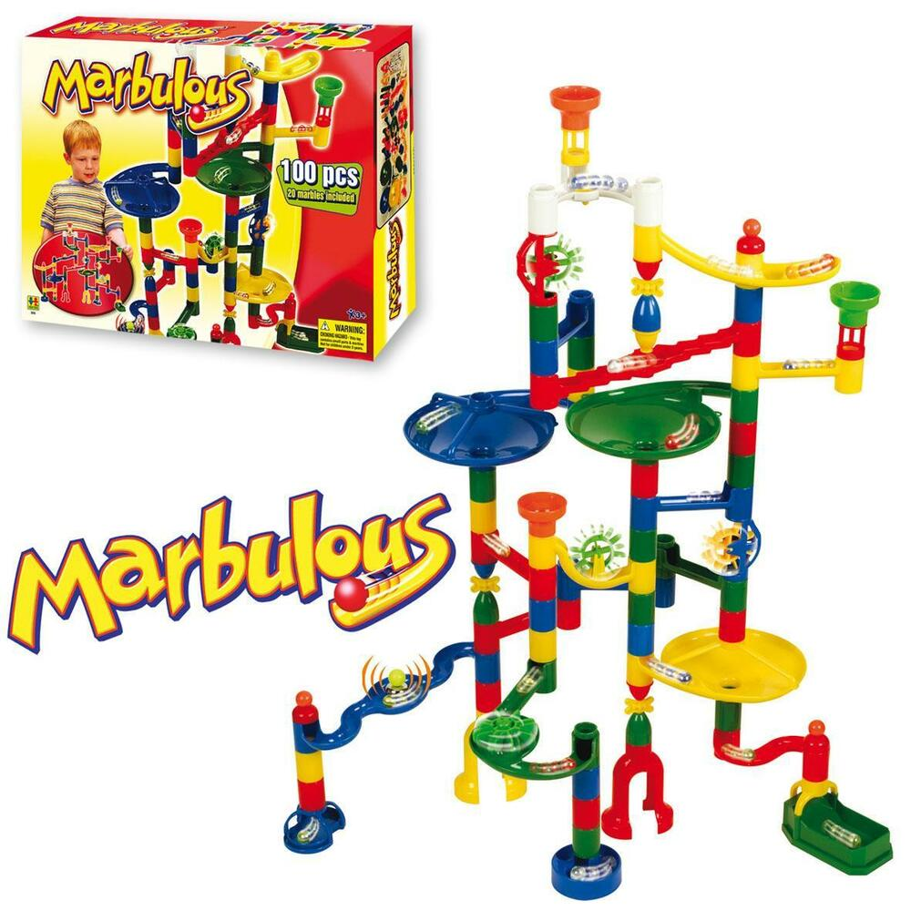 Toys For Marbles : Marbulous childrens kids marble drop race run pce