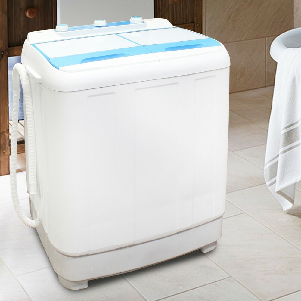 twin tub washing machine compact portable caravan spin dryer electric pump ebay. Black Bedroom Furniture Sets. Home Design Ideas