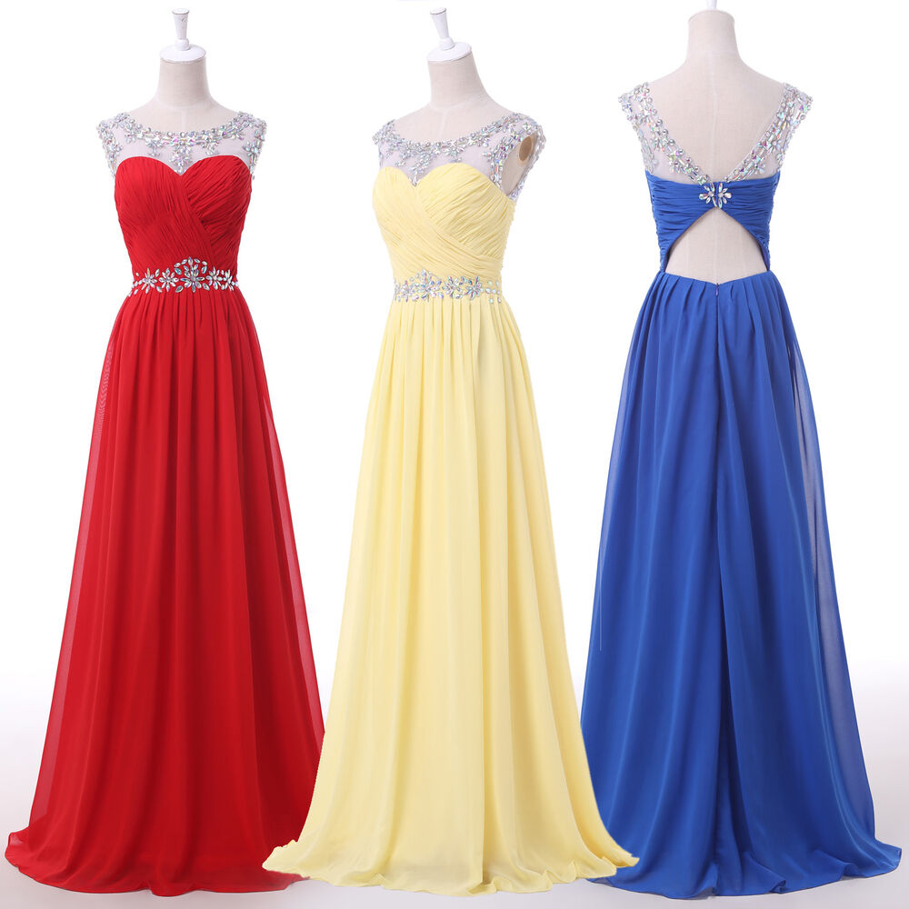 Discount Evening Dress: Cheap Sexy Chiffon Beaded Red Bridesmaid Dress Prom