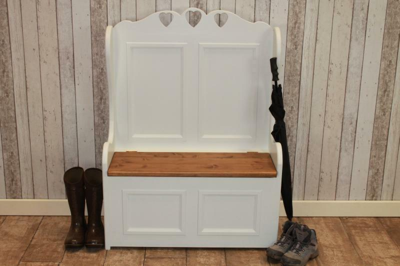 3ft shabby chic pine monks bench pew painted in farrow