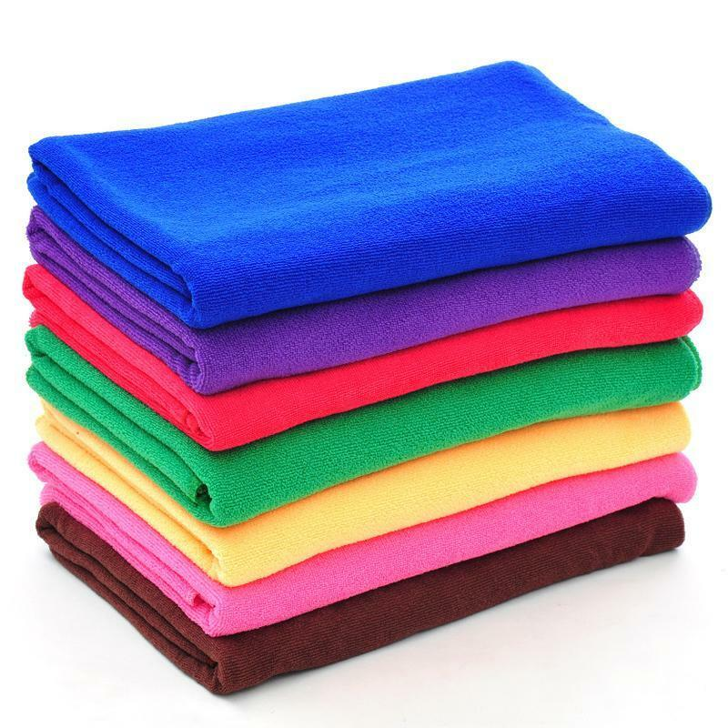 Zip Soft Microfiber Towel: Soft Absorbent Microfiber Multi-function Large Beach Bath