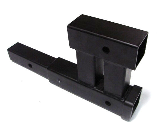 Dual quot trailer hitch receiver rise drop adapter extender