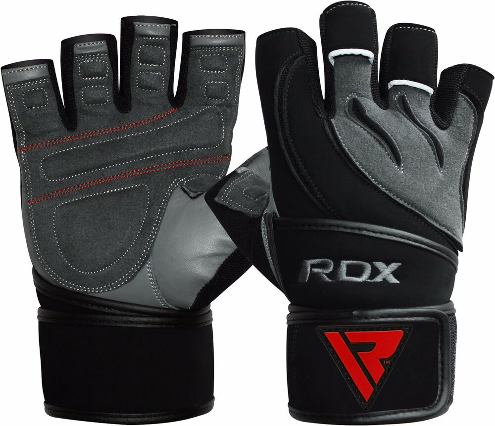 Rdx Weight Lifting Gloves Training Bodybuilding Gym Power: RDX Gel Weight Lifting Body Building Gloves Gym Straps