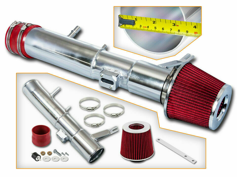 3 5 u0026quot  red cold air intake induction kit   filter for 11