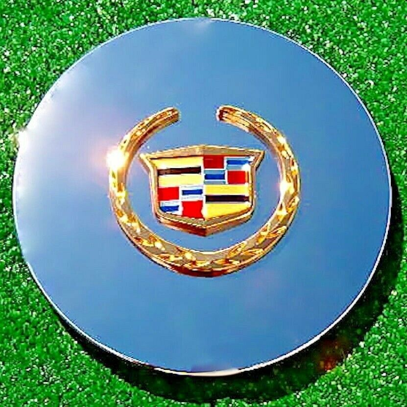 4 New Oem Logo Chrome Gold Real Cadillac Dts Deville